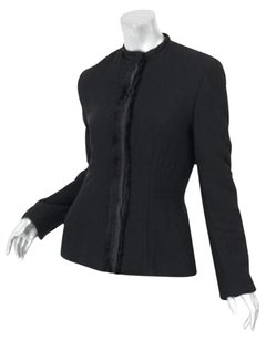 Lanvin Womens Fringe Black Jacket