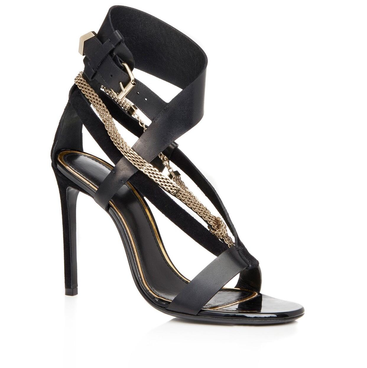 Lanvin Black Sandal with Chain Strap Formal Shoes Size EU 36 (Approx. US 6) Narrow (Aa, N)