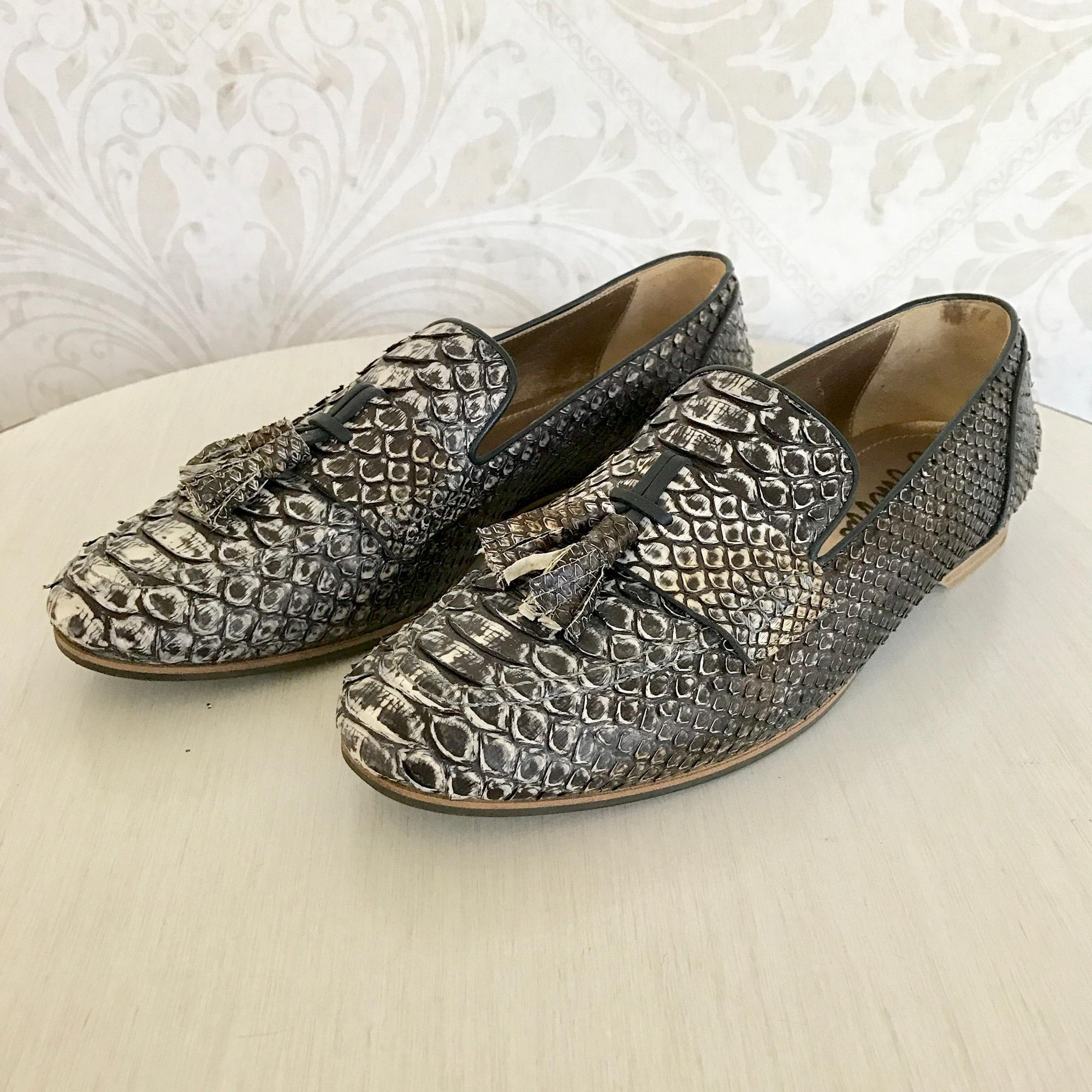 Lanvin Snakeskin Tassel Flats discount with credit card deals online clearance store cheap online jxaVhJrvel