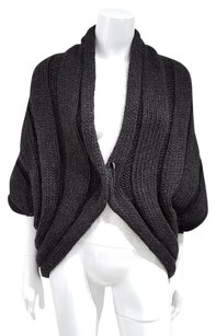 Lanvin Cable Knit Shrug Wool Cape Sweater