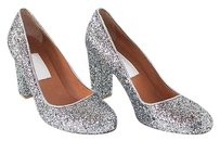 Lanvin Gray Sparkle Silver Pumps