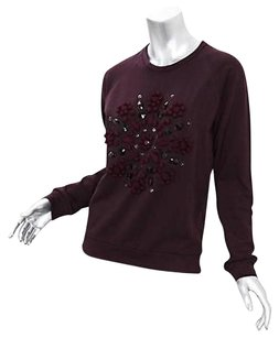 Lanvin Womens Purple Cotton Sweater