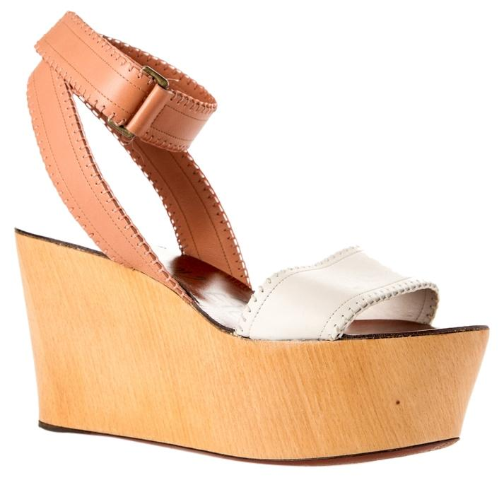 Lanvin Heels size Wedges Leather White/blush Platforms size Heels 41 be4a61