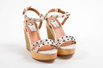 Lanvin White Snakeskin Gray Sandals
