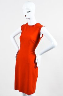 Lanvin Orange Wool Raw Dress
