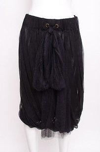 Lanvin Silk Chiffon Skirt Black