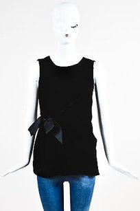 Lanvin Velvet Bow Top Black