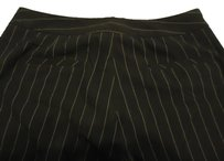Larry Levine Straight Pants black with white pinstripe