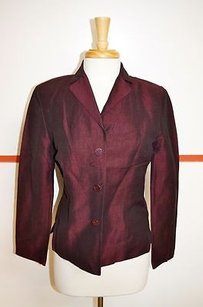 Laundry by Shelli Segal Laundry Garnet Linenrayon Button Blazer Side Vents 11895