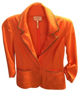 Laundry by Shelli Segal Orange Tan Blazer
