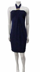 Laundry by Shelli Segal short dress navy blue on Tradesy