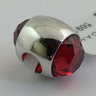 Lauren G Adams Lauren G Adams Rhodium Aquarius Jan Birthstone Garnet Cz Bead Charm Fits All