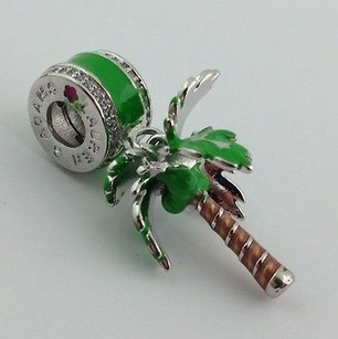 Lauren G Adams Lauren G Adams Rhodium Enamel Palm Tree Charm Fits All Brands