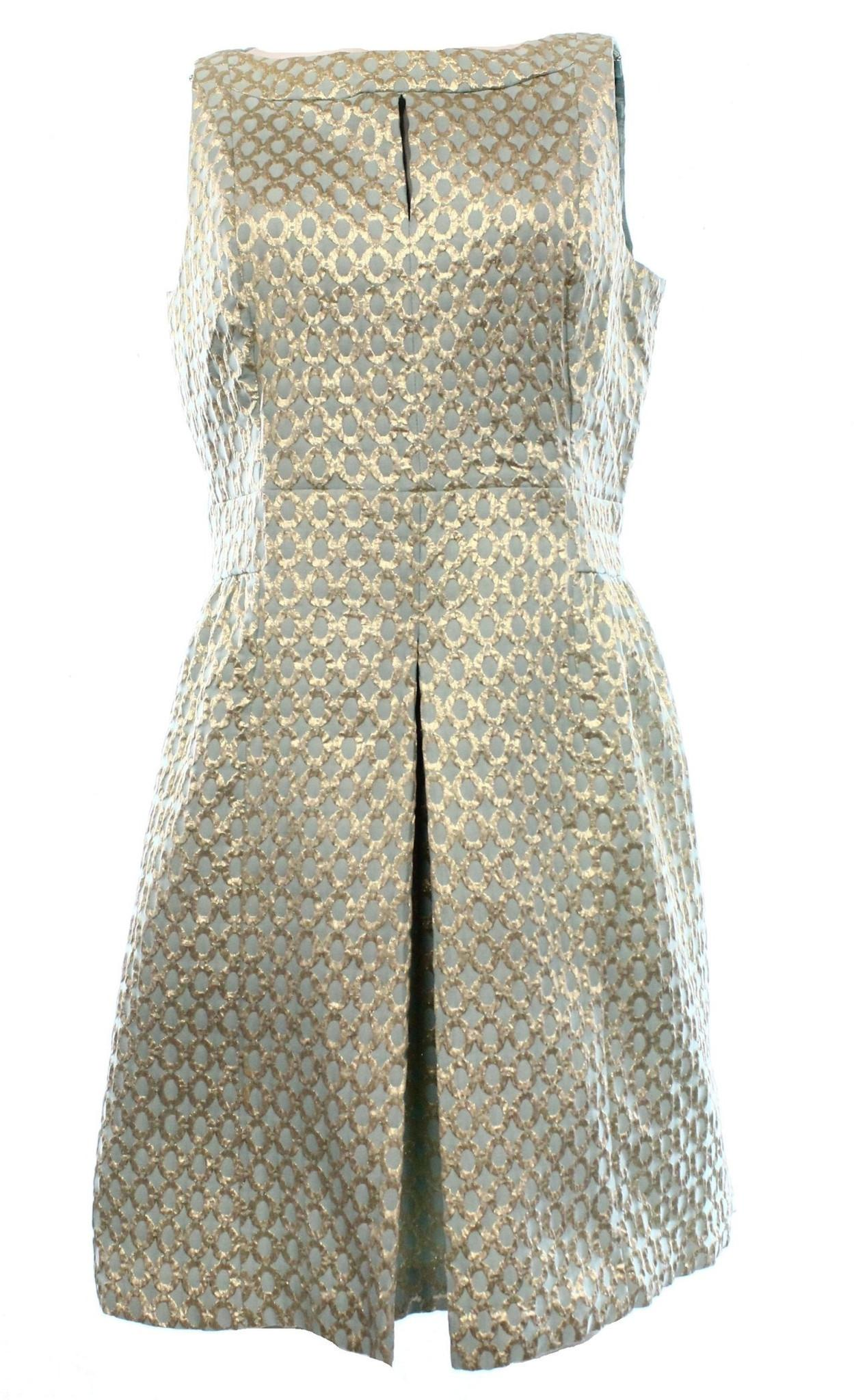 Lauren Ralph Lauren Gold Women\u0027s Jacquard Pleated Dress