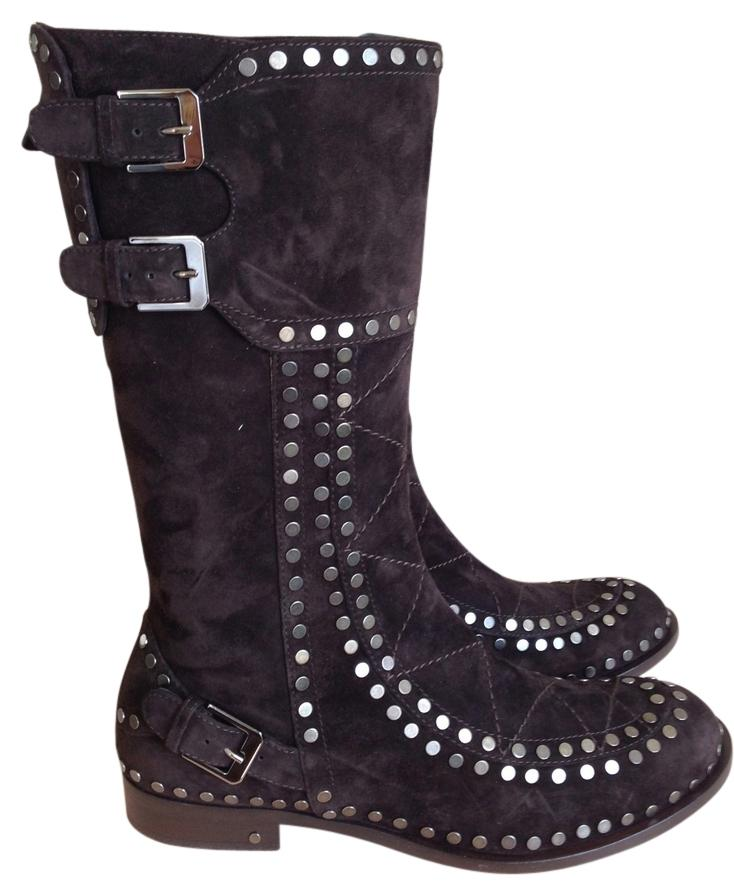 Laurence Dacade Suede Studded Mid-Calf Boots browse low shipping fee for sale Bwgos