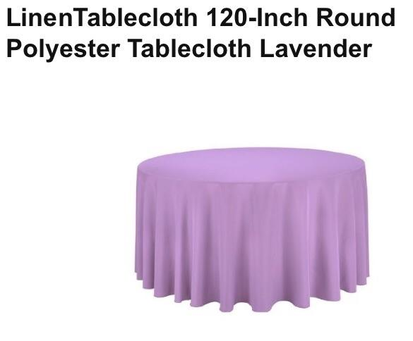 Lavender 7 120 Inch Round Tablecloth ...