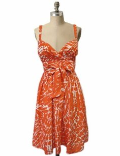 LC Lauren Conrad short dress orange Sleeveless on Tradesy