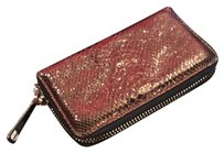 Le Solim Le Solim Dark Brown Metallic Zip Wallet