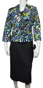 Le Suit Le Suit Womens Multi Black Floral Piece Skirt Suit Size Msrp