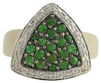Le Vian Le Vian Tsavorite Garnet Diamond Ring - 14k Yellow White Gold Fine 1.03ctw