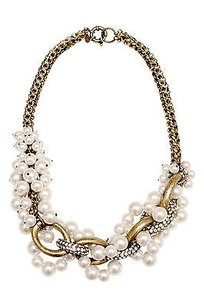 Lee Angel Lee Angel Entwined Pearl And Chain Necklace