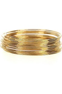 Lee Angel Lee Angel Gold Multi Bangle Set Bangle Bracelet Pouch