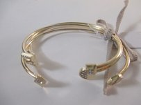 Lee Angel Lee By Lee Angel Gold Thin Open End Geo Bangle Set Of
