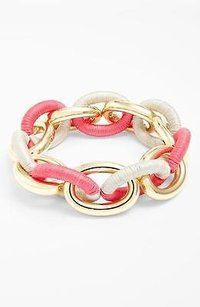 Lee Angel Nordstrom Wrapped Pink Gold Link Bracelet