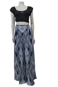 Leifsdottir Anthropologie Navy Light Wide Leg Tribal Print Pants