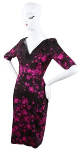 Lela Rose Black Pink Floral Dress