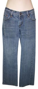 Levi's 528 Blue Curvy Whiskered Boot Cut Jeans