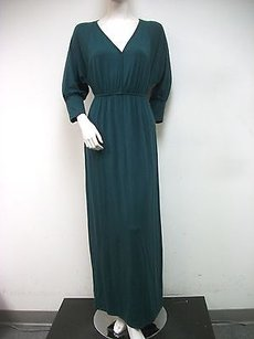 Green Maxi Dress by Lilla P Forest Knit V