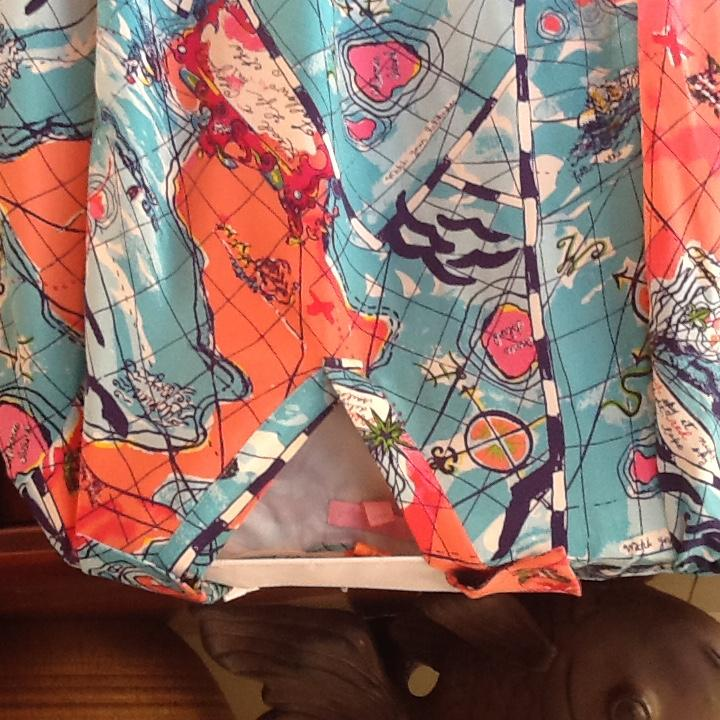 Lilly Pulitzer Blue//Coral Nautical Work/Office Dress