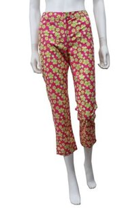 Lilly Pulitzer Daisy Floral Capri Crop 0 Capri/Cropped Pants pink green