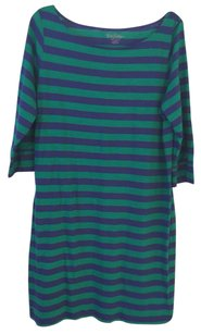Lilly Pulitzer short dress blue/green Striped on Tradesy