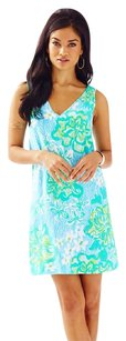 Lilly Pulitzer short dress Lagoon Green Wave Rider on Tradesy