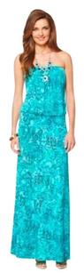 blue, green Maxi Dress by Lilly Pulitzer