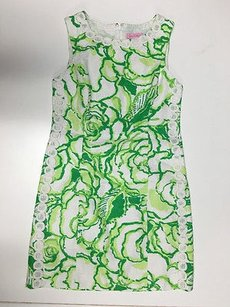 Lilly Pulitzer Green White Dress
