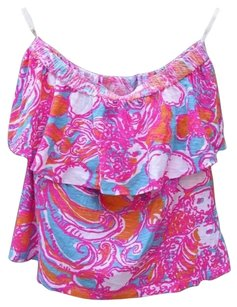 Lilly Pulitzer Wiley Strapless Feeling Tanked Top pink/multi