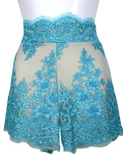 Lisa Nieves Short Boyfriend Lace Mini/Short Shorts Turquoise