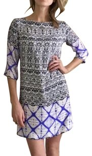 LIV short dress Mix-Prints in Lavender, Ivory and Navy Resort Silk on Tradesy