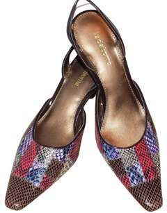 Liz Claiborne Bold Leather Patchwork Color-blocking Classic Multi colored Pumps