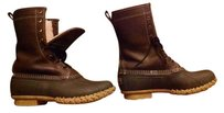 L.L.Bean Bean Leather Shearling Brown Boots