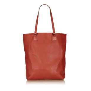 Loewe Leather Others Red Tote