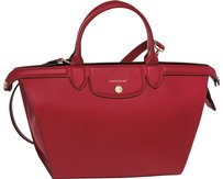 Longchamp Le Pliage Heritage Satchel in Red