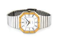 Longines Vintage Octagonal Mens Two Tone Quartz Watch