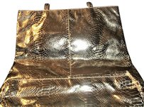 LORD & TAYLOR Snakeskin Tote in Gold