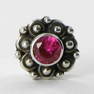 Lori Bonn Lori Bonn 212156rb Slide Charm You Jane Synthetic Ruby Sterling Silver