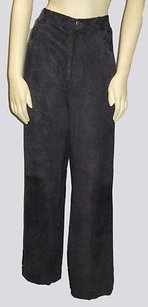 Loro Piana Leather Suede Straight Leg Trouser Hs2800 Pants