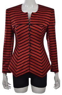 Louis Feraud Womens Red Basic Multi-Color Jacket